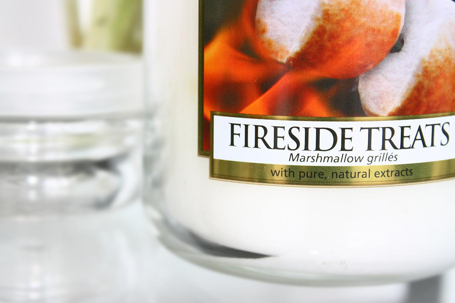 świeczka yankee candle, fireside treats, zapachowa świeczka