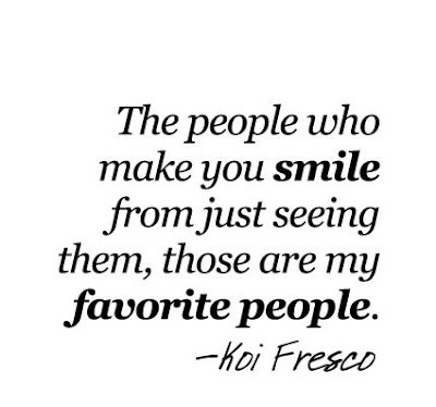 """""""The people who make you smile from just seeing them, those are my favourite people."""" – Koi Fresco"""