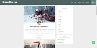 DreamLine шаблон для Blogger