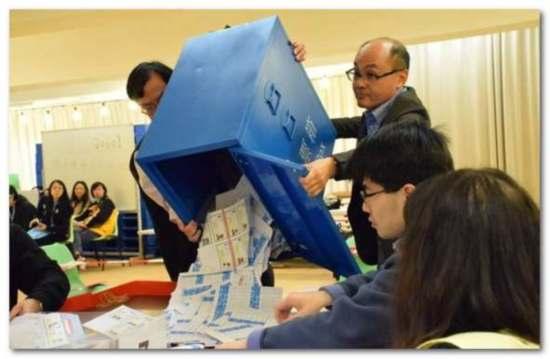 Boletas de papel para contar votos