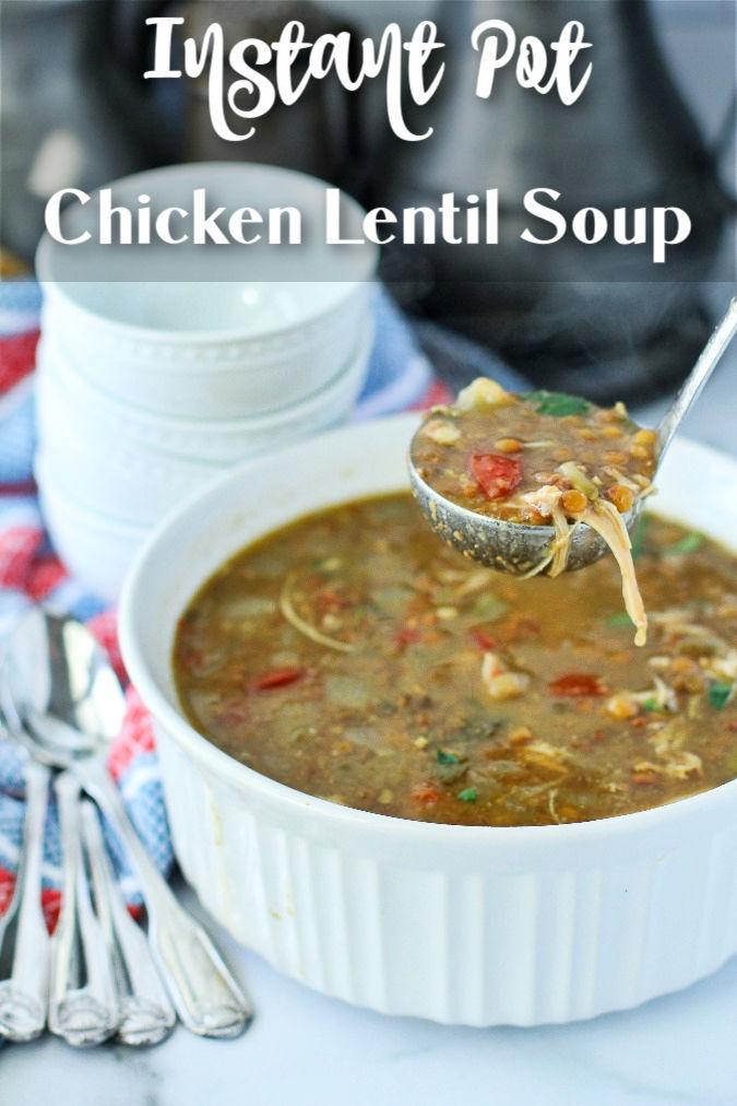 Instant Pot Chicken and Lentil Soup