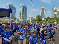 """Meriah, DPP KNPI Adakan """"Fun Run"""" di Monas"""