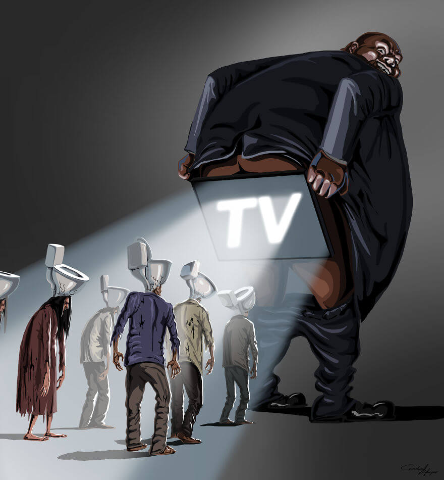 13 Powerful Illustrations Reveal Everything That Is Wrong With The World Today - Attractive Tv
