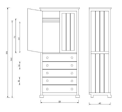 Bebe muebles detalles ropero marcelo for Planos de roperos