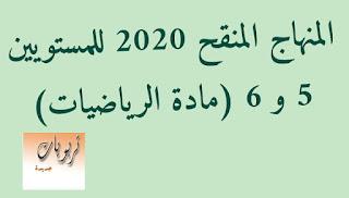 المنهاج المنقح 2020 للمستويين 5 و 6 ( الرياضيات)