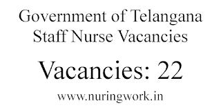 Government of Telangana Staff Nurse Vacancies
