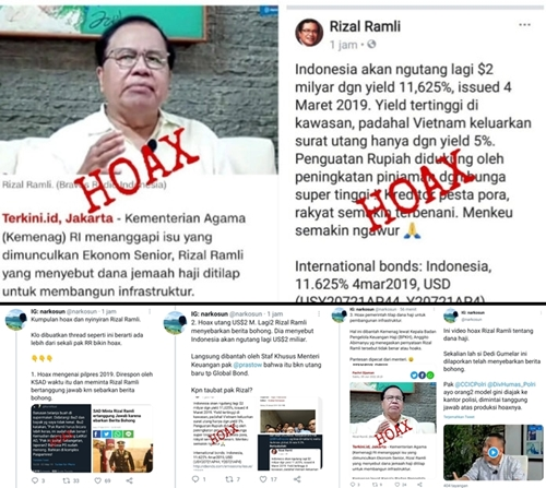Bagikan Kumpulan Hoax yang Disebar Rizal Ramli, Netizen: Pantas Dipecat dari Menteri