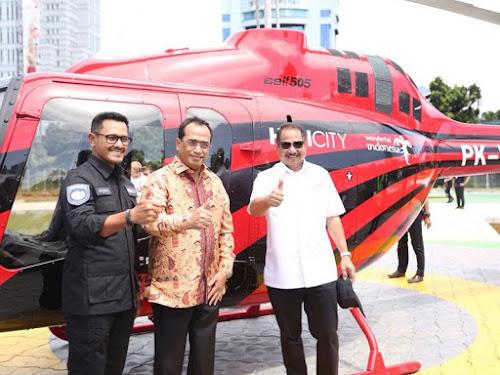 Wisata naik helikopter dengan Helicty