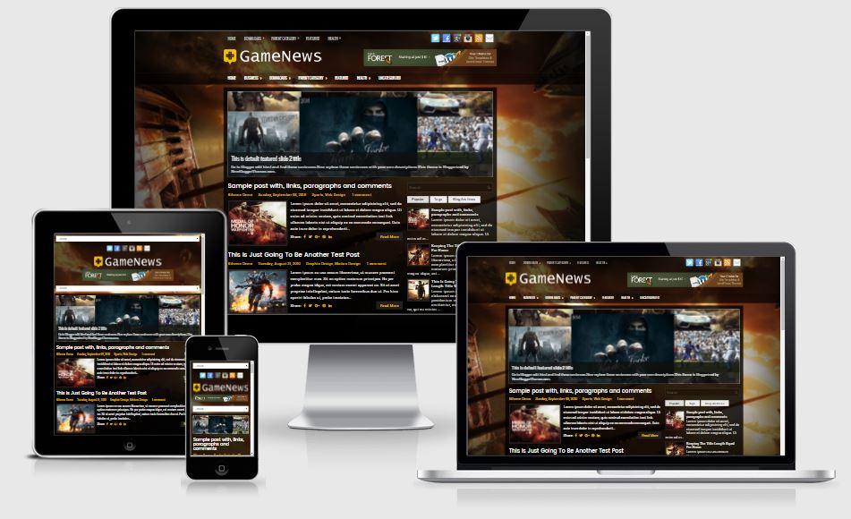 GameNews Blogger Template - Giao diện Game cực đẹp