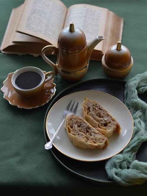 Almás-mandulás rétes (cukormentes, vegán)