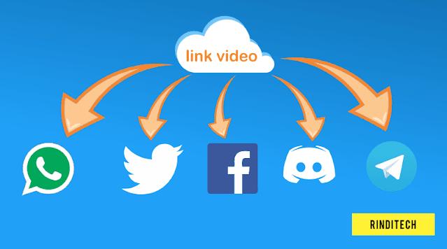 Cara mudah kirim video dengan link online stream instant