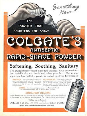 Colgate's Antiseptic Rapid-Shave Powder