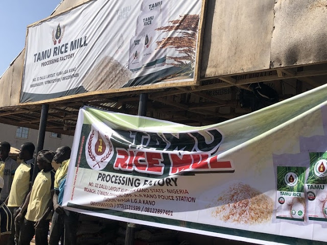 Lai Mohammed, Agriculture Minister, Nanono Visit Rice Mills In Kano