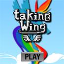 Rainbow Taking Wing