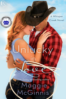 romance novel cover, contemporary romance, Unlucky in Love by Maggie McGinnis