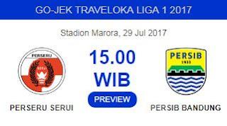 Persib Bandung Bidik Kemenangan di Kandang Perseru - Liga 1 Sabtu 29 Juli 2017
