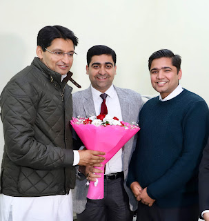 Vikas Verma congratulated MP MP Deepender Hooda on receiving 'Excellent MP Award 2019'