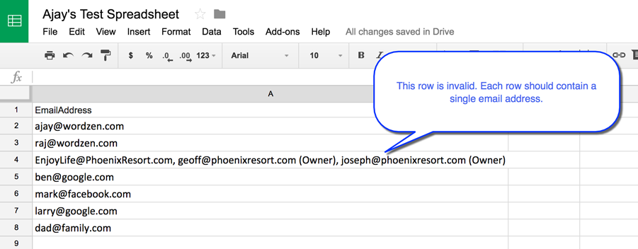 Bug Fix: Gmail mail merge error when connecting to certain Google Sheets