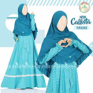 Gamis Fenuza Callista Turquoise
