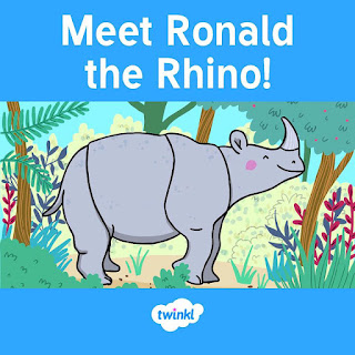 Ronald the Rhino e-book from Twinkl