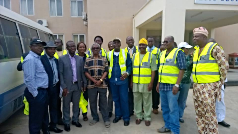 Engr Olorunfemi Isaac leads NSE to RCCG's ongoing 3KM by 3KM AUDITORIUM