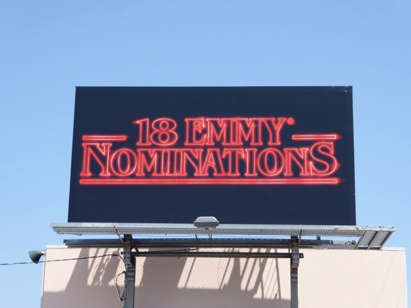 Stranger Things 18 Emmy noms billboard