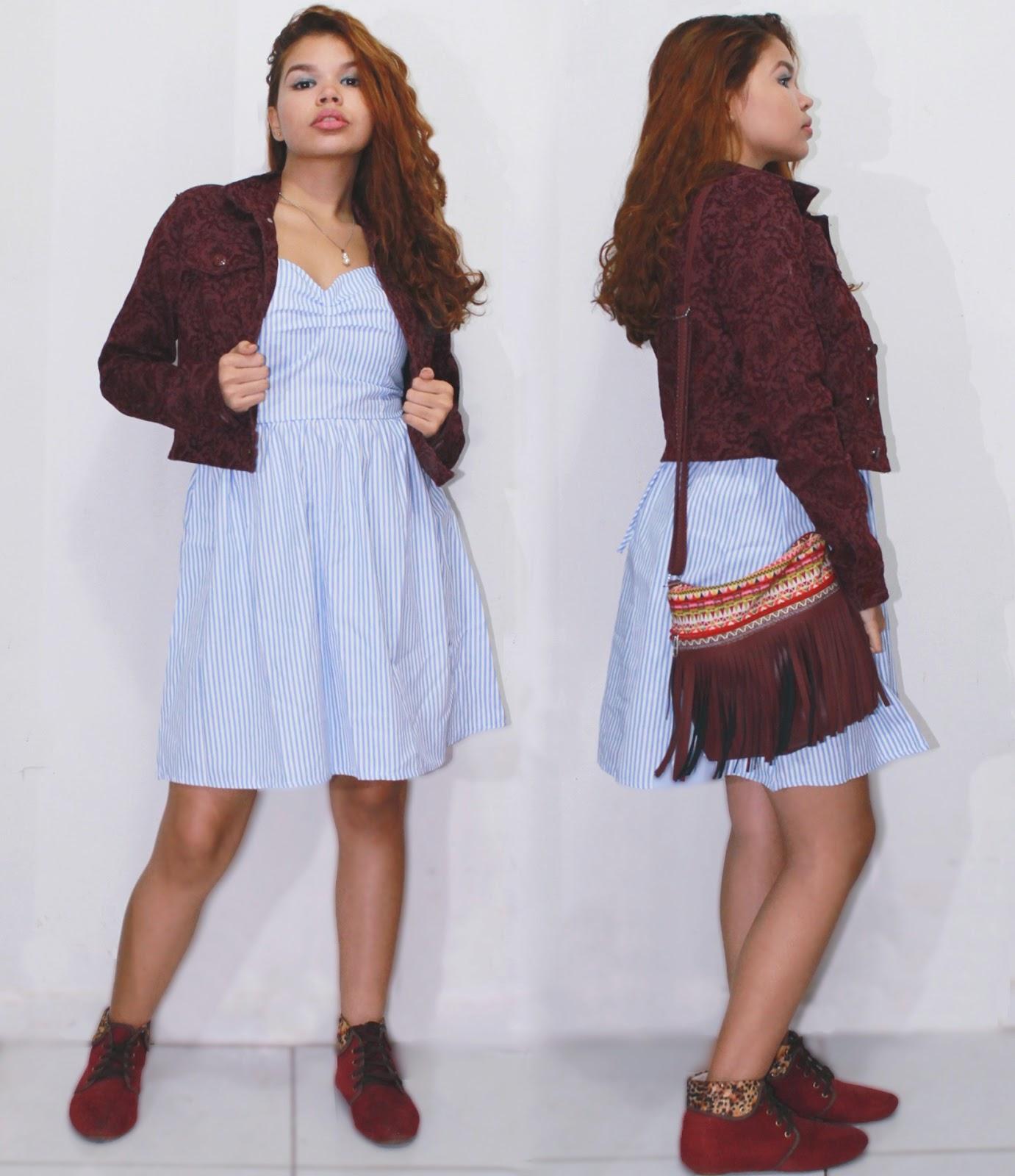 look, fashion blogger, vestido listras, sereia, romwe, lojinha gringa, ingrid gleize