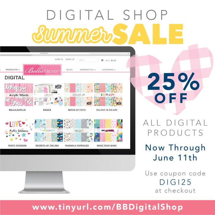 Bella Blvd Digital Shop Sale | Summer Traveler's Notebooks by Jamie Pate | @jamiepate for @bellablvd
