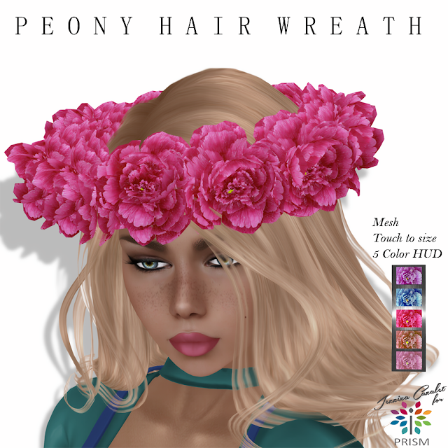 PRISM ~ Special Mother's Day / May Group Gift - Peony Hair Wreath by Jezzixa Cazalet