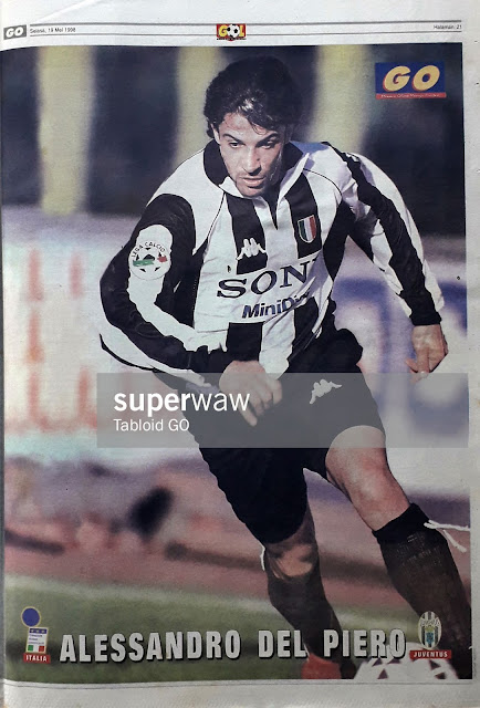 ALESSANDRO DEL PIERO JUVENTUS FC 1997