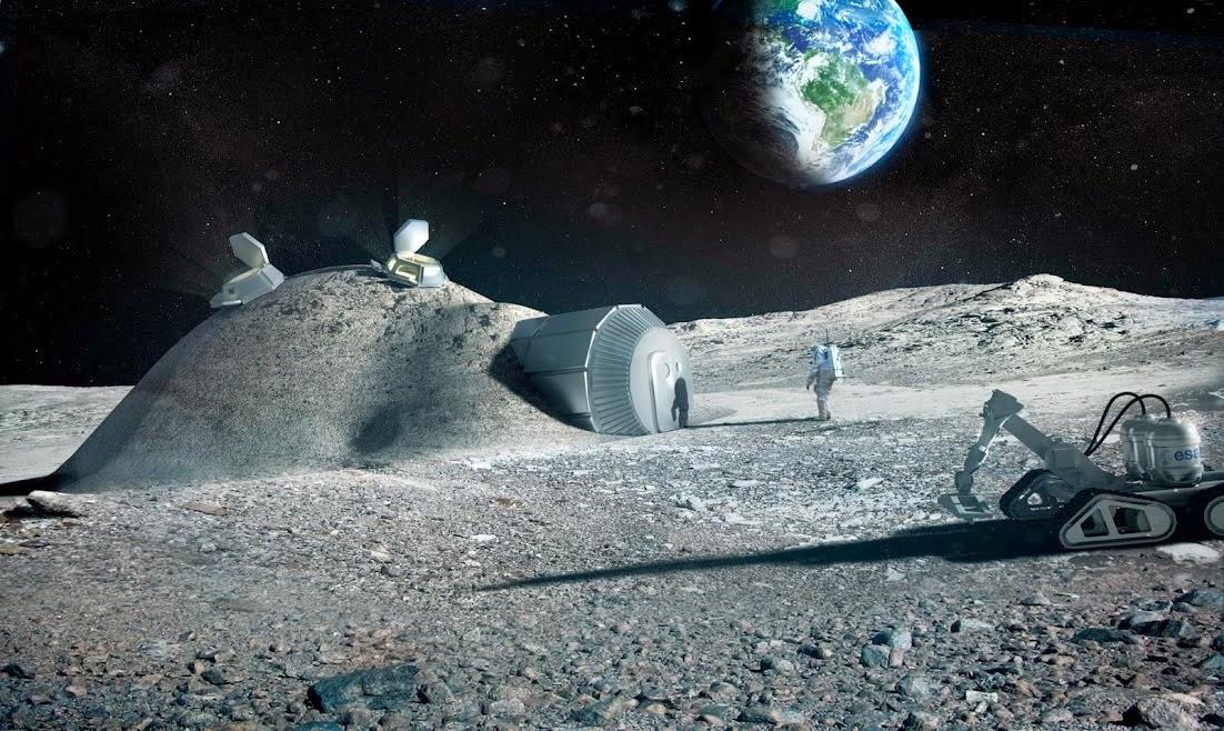 Base lunare per raccolta di Elio 3