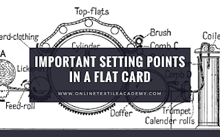 Carding Machine Settings