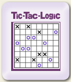 Online Daily Tic Tac Logic Puzzle  (Logical Thinking Brain Game)