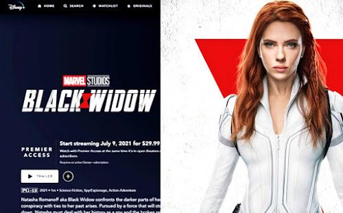 Disney Plus Launches 'Black Widow' movie page for premiere