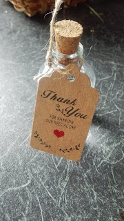 fľaštička ginu Botanist zo svadby