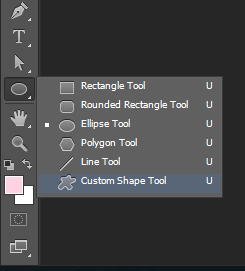 Tools Custom Shape Photoshop