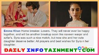 Public reaction on Shahroz and Sadaf Kanwal Wedding