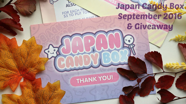 Japan Candy Box September 2016 and Giveaway