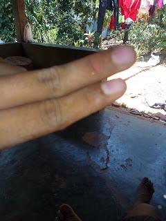 mengukur jarak lnb palapa telkom 6 feet dengan jari