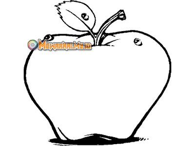 gambar apel belum diwarnai
