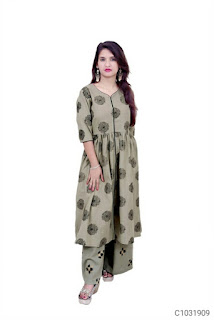 Fancy Cotton Printed Kurti Sets