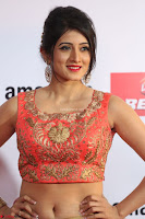 Harshika Ponnacha in orange blouuse brown skirt at Mirchi Music Awards South 2017 ~  Exclusive Celebrities Galleries 030.JPG
