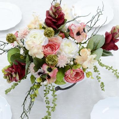 valentine's day diy vintage flower arrangement