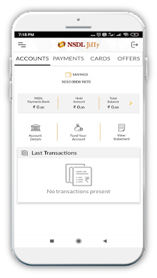 NSDL Payment Bank account live proof