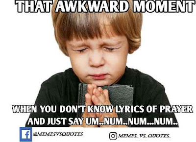 Prayer Awkward Meme