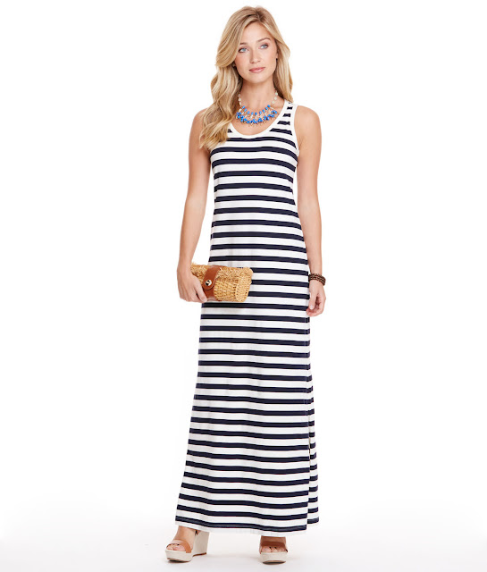 vineyard vines stripe knit maxi dress nautical mexico vacation