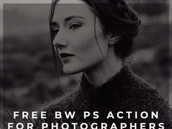 Free Black and White PS Action for Photographers