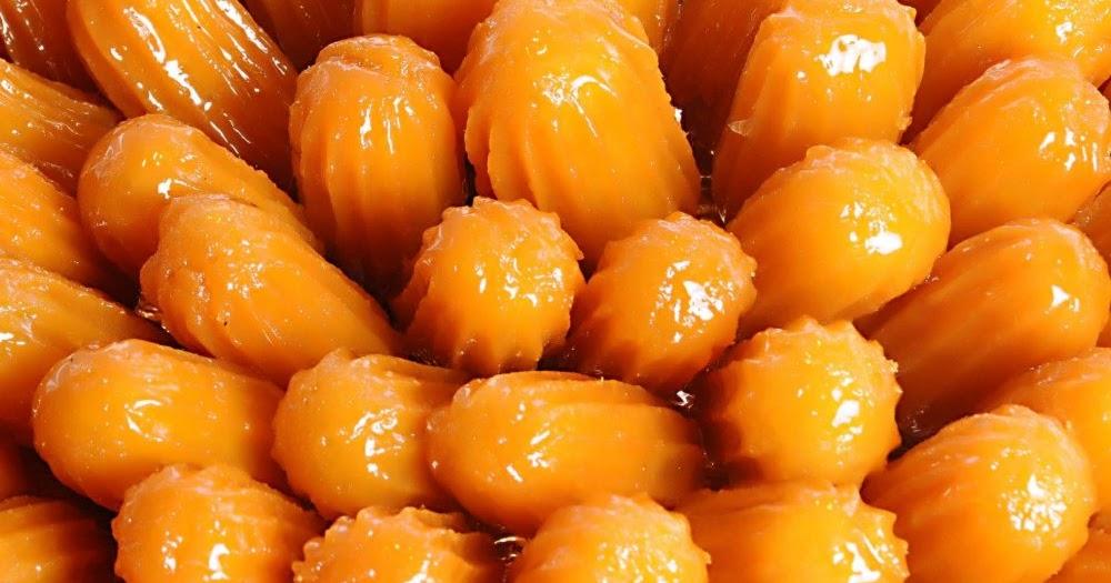 طريقة عمل حلوى بلح الشام سهل وسريع