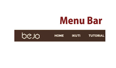menu bar blog