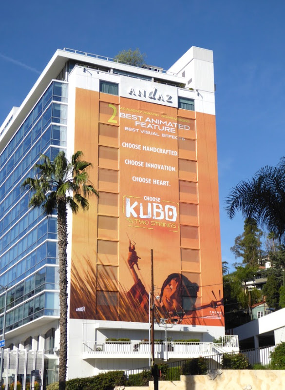 Giant Kubo and the Two Strings Oscar nominee billboard